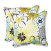 Pillow Perfect Floral Fantasy Throw Pillow (Set of 2)