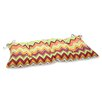 Pillow Perfect Zig Zag Wrought Iron Loveseat Cushion
