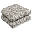 Pillow Perfect Seeing Spots Wicker Seat Cushion (Set of 2)