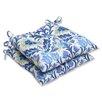 Pillow Perfect Santa Maria Wrought Iron Seat Cushion (Set of 2)