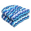 Pillow Perfect Panama Wave Wicker Seat Cushion (Set of 2)