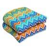 Pillow Perfect Zig Zag Wicker Seat Cushion (Set of 2)