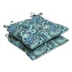<strong>Pillow Perfect</strong> Pretty Wrought Iron Seat Cushion (Set of 2)