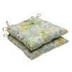 Pillow Perfect Sugar Beach Wrought Iron Seat Cushion (Set of 2)