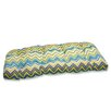 Pillow Perfect Zig Zag Wicker Loveseat Cushion