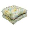 Pillow Perfect Sugar Beach Wicker Seat Cushion (Set of 2)