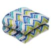 Pillow Perfect Marquesa Marine Wicker Seat Cushion (Set of 2)