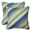 Pillow Perfect Browning Sunblue Throw Pillow (Set of 2)