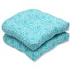 Pillow Perfect Ring a Bell Wicker Seat Cushion (Set of 2)