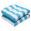 Pillow Perfect Cabana Stripe Wicker Seat Cushion (Set of 2)