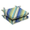 Pillow Perfect Browning Sunblue Squared Corner Seat Cushion (Set of 2)
