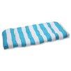 Pillow Perfect Cabana Stripe Wicker Loveseat Cushion