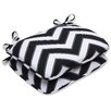 Pillow Perfect Chevron Rounded Corner Seat Cushion (Set of 2)