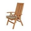 Barlow Tyrie Teak Highback Chair Seat Cushion