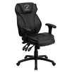 Flash Furniture Personalized High-Back Leather Executive Office Chair with Triple Paddle Control