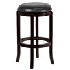 <strong>Flash Furniture</strong> 29'' Backless Wood Bar Stool with Leather Swivel Seat