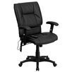 Flash Furniture High-Back Leather Massaging Executive Office Chair