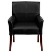 Flash Furniture Reception Chair with Mahogany Legs