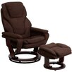Flash Furniture Contemporary Microfiber Recliner and Ottoman