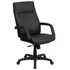 Flash Furniture High-Back Leather Executive Office Chair with Memory Foam Padding
