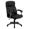 Flash Furniture High-Back Leather Folding Executive Office Chair with Arms