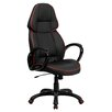 Flash Furniture High-Back Leather Executive Office Chair with Arms