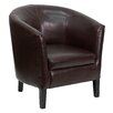<strong>Flash Furniture</strong> Leather Barrel Shaped Reception Lounge Chair