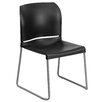 Flash Furniture Hercules Series Full Back Contoured Stack Chair with Sled Base