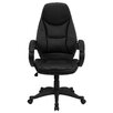 <strong>Personalized High-Back Leather Contemporary Office Chair</strong> by Flash Furniture