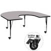 "Flash Furniture Mobile 66"" x 60"" Kidney Classroom Table"