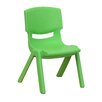 "<strong>Flash Furniture</strong> 10.5"" Plastic Stackable Classroom Chair (Set of 5)"