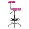 Flash Furniture Height Adjustable Drafting Stool with Chrome Base