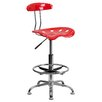 <strong>Height Adjustable Drafting Stool with Chrome Base</strong> by Flash Furniture
