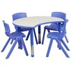 <strong>Height Adjustable Cutout Circle Activity Table with 4 School Stack ...</strong> by Flash Furniture