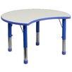 "Flash Furniture 35.5"" x 25.13"" Kidney Classroom Table"