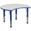 Flash Furniture Height Adjustable Cutout Circle Activity Table