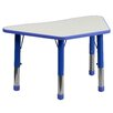 Flash Furniture Height Adjustable Trapezoid Activity Table