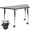 "Flash Furniture Mobile 57.5"" x 26.25"" Trapezoidal Classroom Table"