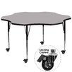 "Flash Furniture Mobile 60"" Flower Classroom Table"