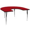 "Flash Furniture 66"" x 60"" Kidney Classroom Table"