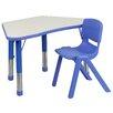 "Flash Furniture 37.75"" x 21"" Trapezoidal Classroom Table"