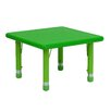 <strong>Square Height Adjustable Plastic Activity Table</strong> by Flash Furniture