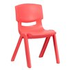 "<strong>15.5"" Plastic Classroom Stackable School Chair</strong> by Flash Furniture"