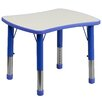 "Flash Furniture Height Adjustable 21.88"" W x 26.63"" D Rectangular Activity Table"