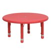 <strong>Round Height Adjustable Plastic Activity Table</strong> by Flash Furniture