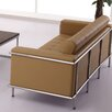 Flash Furniture Hercules Lesley Series Leather Love Seat with Encasing Frame