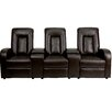 Flash Furniture Leather 3-Seat Home Theater Recliner with Storage Consoles