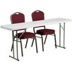 Flash Furniture 3 Piece Folding Training Table Set