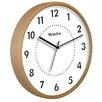 """Westclox 10"""" Woodgrain Wall Clock"""
