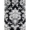 Alliyah Rugs New Casanova Off-White/Black Oriental Area Rug